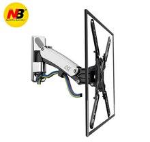 NB F400 Gas Strut 50-60 LED LCD TV Wall Mount Full Motion Monitor Holder Arm Load: 22-55lbs (15-23kgs) Silver Black