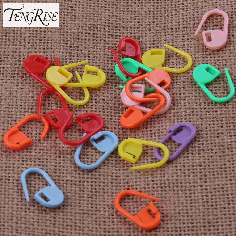 Mix Mini Plastic Weave Knitting Crochet Locking Stitch Markers Holder ...