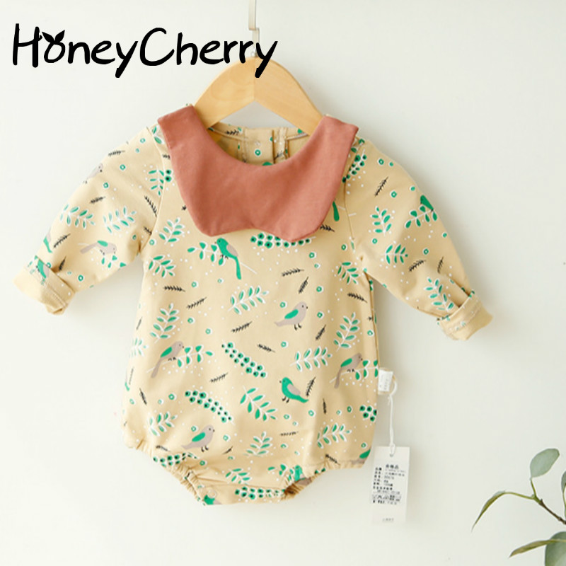New Girl Bodysuits Style Long Sleeve Lapel Suit Baby Bodysuits Baby Girl Clothes Baby Girl Summer Clothes