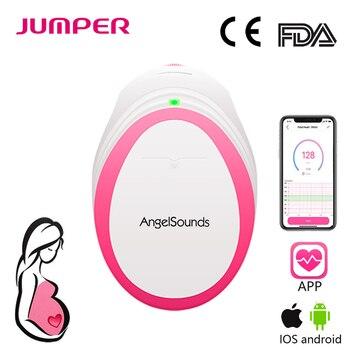 Angelsounds Bolso Portátil Monitor de Batimento Cardíaco Fetal Doppler Bebê Som Doppler Grávida Pré 3 MHz Cuidados de Saúde Familiar