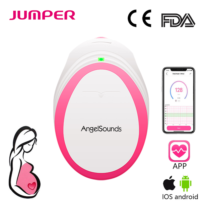 Angelsounds Portable Pocket Fetal Doppler Baby Sound Heartbeat Pregnant Doppler Prenatal Monitor 3MHz Household Health Care(China)