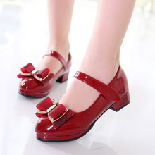 Girls Leather Shoes for Children Princess Casual Low-heeled Fashion Wild Dress