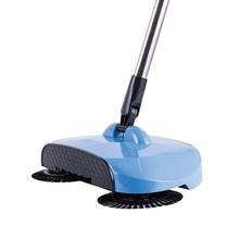 Ze stali nierdzewnej strony push zamiatarki maszyna do wypychania typu Push Hand push Magic Broom Zamiarki dustpan narzędzia do czyszczenia domu tanie tanio 600ml Stal nierdzewna tworzywo sztuczne włókno 120cm PANNA RÓŻA