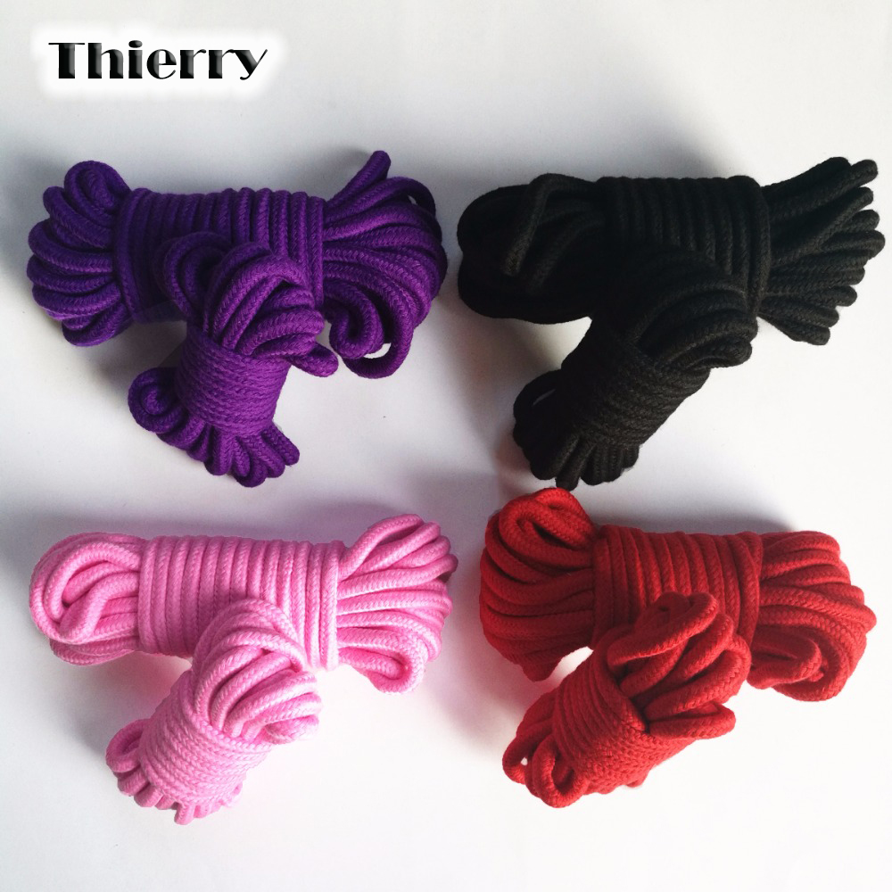 Buy Thierry 5M 10M Fetish Alternative slave bondage rope Restraint CottonTied Rope sex products couples adult game roleplay