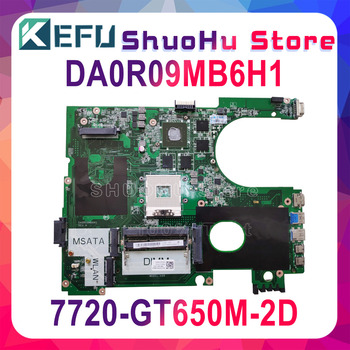 KEFU For DELL 7720 CN-072P0M DA0R09MB6H1 REV:H GT650M 2D laptop motherboard tested 100% work original mainboard
