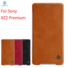 For Sony XZ2 Premium Case NILLKIN PU Leather Flip Xperia Luxury Cover