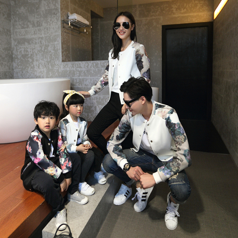 все цены на 2018 autumn coat jackets family look clothing matching mother daughter clothes father and son outfits mommy and me clothes