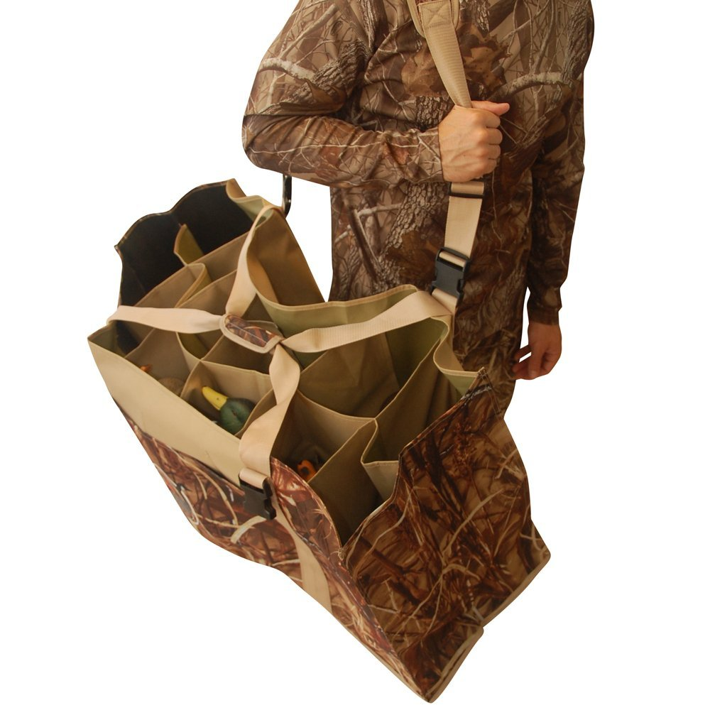 12 Slot Duck Decoy Bag with Padded Adjustable Shoulder Strap Slotted Decoy carriers for Duck Goose Turkey Hunting Accessories 2017 xilei ducks decoy electric flying duck decoy duck with remote control with spinning wings