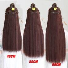 MSTN 20-38 дюймов 5 шпильки супер длинные мягкие термостойкие синтетические волокна парик аксессуары для волос Головные уборы