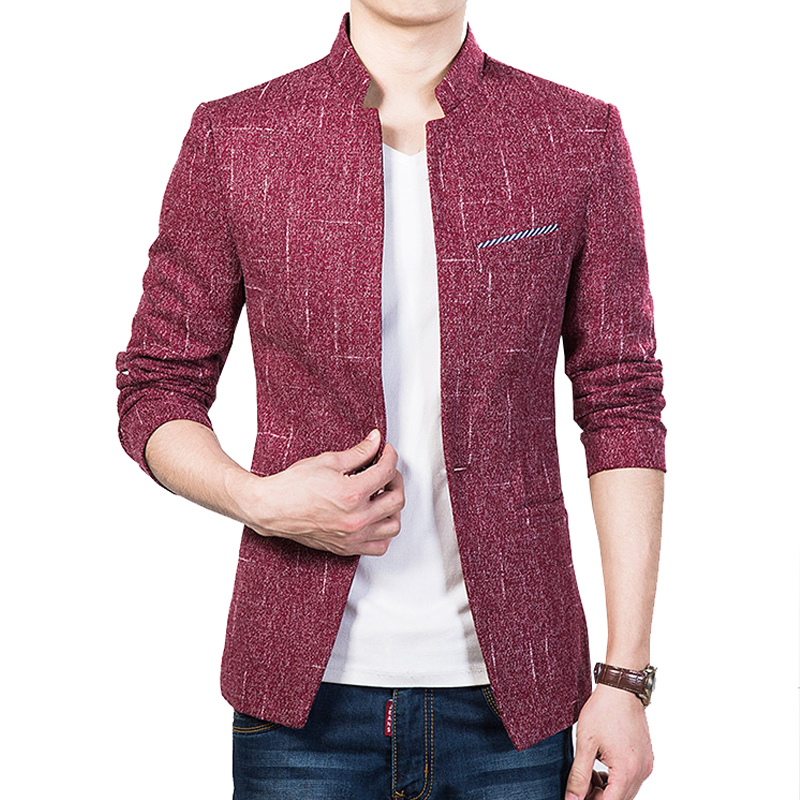 MISNIKI slim fit blazer men casual suit jackets business