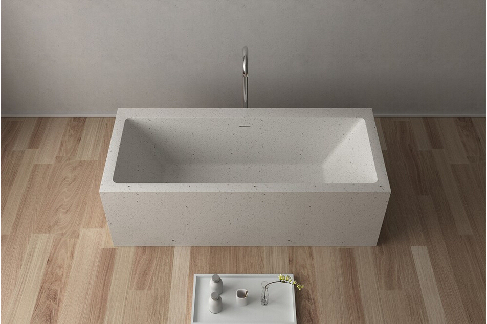 1800x800x580mm Quartz CUPC Approval Colored Bathtub Oval Freestanding Solid surface stone Tub RS65117