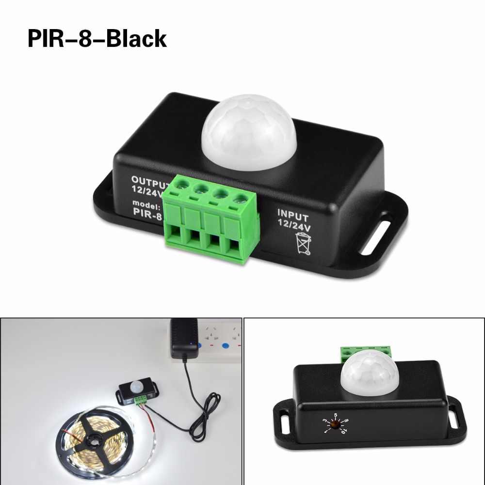 PIR Gerak Lampu Sensor DC 12 V 24 V 5A 6A 10A Gratis Welding aksesoris dijual Untuk 5050 SMD 2835 SMD 5630 SMD LED Strip cahaya