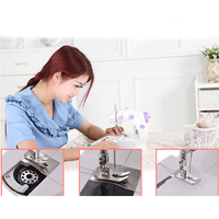 Auto Clothes Tool Sewing Machine Arm Foot Pedal New Mini Home Overlock DIY Tool