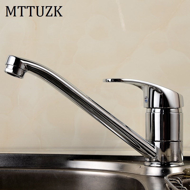 Sales Promotion!Kitchen Sink Vegetables Basin Laundry Pool Hot And Cold Water Faucet Single Hole Single Handle Taps Rotate 360