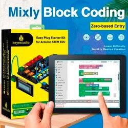 Keyestudio FACILE di plug Ultimo Starter Kit di Apprendimento per Arduino STELO EDU/Compatibile Con Mixly Blocco