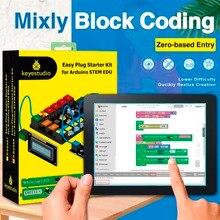Keyestudio קל תקע אולטימטיבי Starter למידה לarduino גזע EDU/תואם עם Mixly בלוק