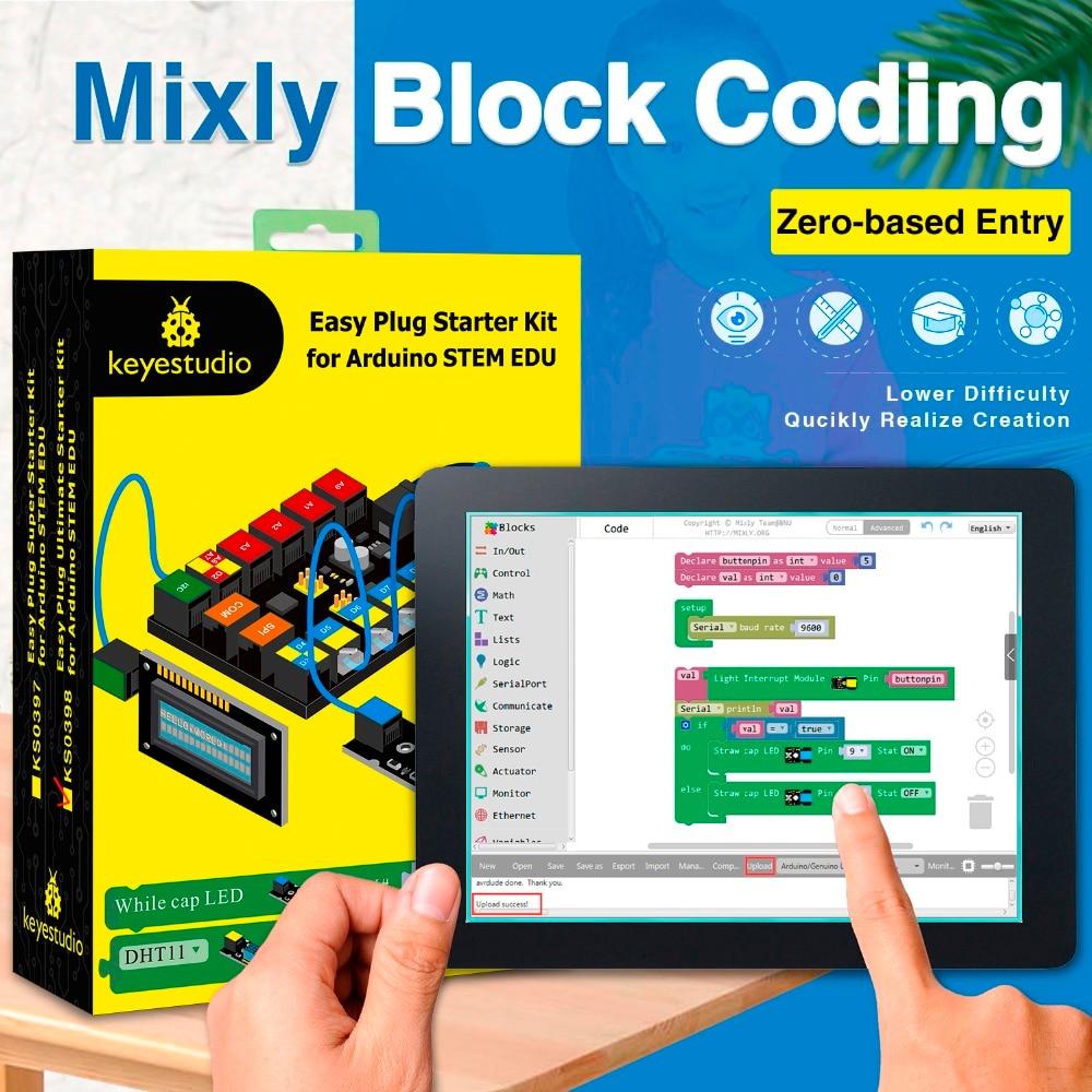 Keyestudio 簡単究極スターター学習キット arduino のための幹 EDU/Mixly と互換性ブロック  グループ上の 電子部品 & 用品 からの 集積回路 の中 1