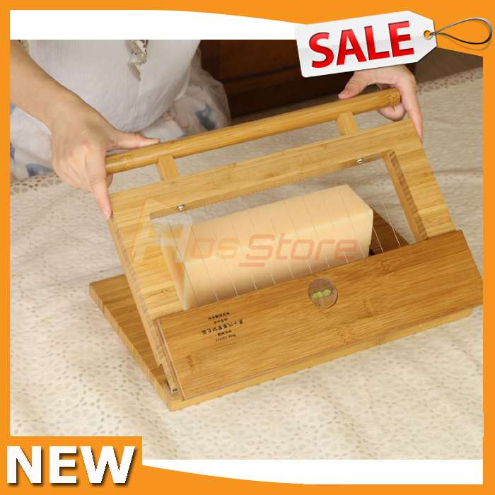 New Wooden Handmade Wire Soap Mold Loaf Trimming Cutter Kit Adjustable Bar Spacing Soapmaking