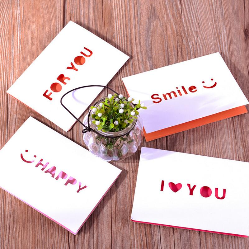 50pcs New Cute Mini Paper Card Kid Happy Birthday Gift Christmas Year Thank You Greeting with Envelope