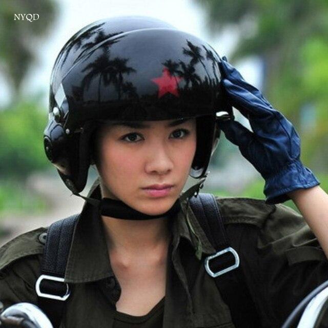 Keren! 2017 baru kualitas Tinggi TK Chinese Angkatan Udara Militer Jet percontohan jet percontohan Open Face Motorcycle Helmet Hijau & Visor helm