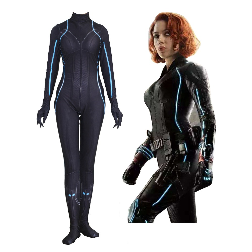 Adult Marvel's The Avengers Black Widow Cosplay body tights costume jumpsuits role-playing Halloween Costume for Women JQ-1354