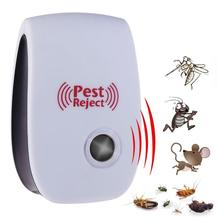 Multi-purpose Electronic Ultrasonic Mosquito Killer Reject Bug Mosquito Cockroach Mouse Pest Reject Magnetic Killer Repeller цена и фото