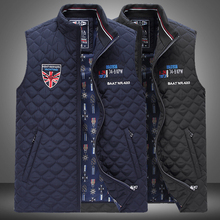 Kenty&Shark vest men's 2016 launching autumn cotton-padded commercial fashion embroidery euro version size clothing P3088