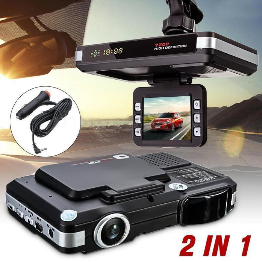 Dispositif d'alerte précoce de sécurité 2In1 caméra de voiture enregistreur DVR Dash Cam et Radar détecteur de vitesse Laser alerte g-sensor jan18