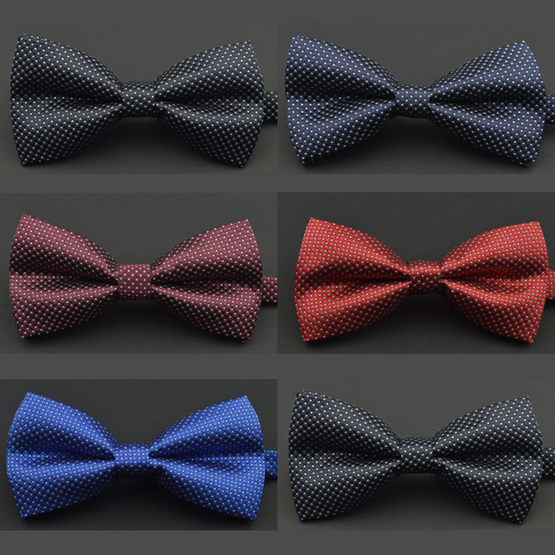 New Fashion Tuxedo Bow Tie Men Red And Black Tartan Groom Marry Groomsmen Wedding Party Colorful Striped Butterfly Cravats Mens