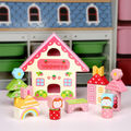 Candice guo wooden toy wood block colorful blocks home story strawberry play house birthday christmas present gift