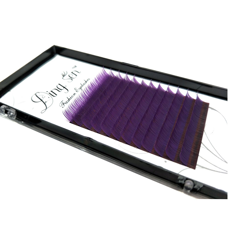 DINGSEN C D False Eyelashes Purple Highly Soft Exquisite Individual False Eyelash Eye Lashes Fake Eyelashes Extension