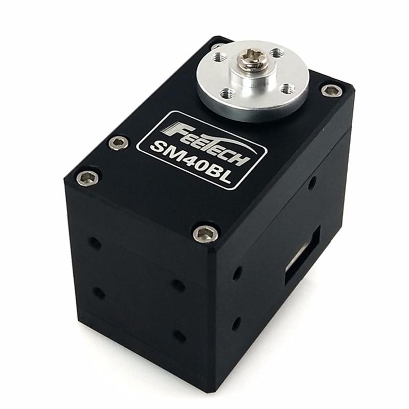 все цены на Feetech 12V 485 Magnetic Encoder Large Angle 40kg.cm Aluminium Robot RC Servo SM40BL Coded Serial Control BUS Servo онлайн