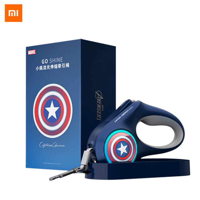 Xiaomi Pet Dog LED Retractable Collar Light Lea-sh harness with Lock&Release Mechanism Walking Lea-sh glowing PET accessories 3