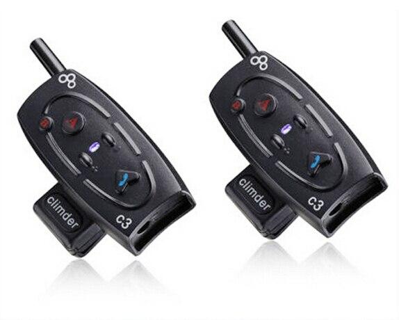 2pcs BT1000M Motorcycle Helmet Bluetooth Headset & Intercom With Built-in FM Tuner
