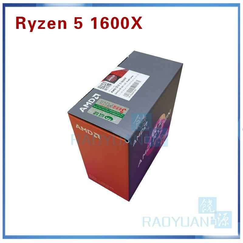 新オリジナルボックス AMD Ryzen 5 1600X R5 1600 × 3.6 Ghz の 6 コア Twelve スレッド CPU プロセッサ 95 ワット L3 = 16 メートル YD160XBCM6IAE ソケット AM4  グループ上の パソコン & オフィス からの CPU の中 1