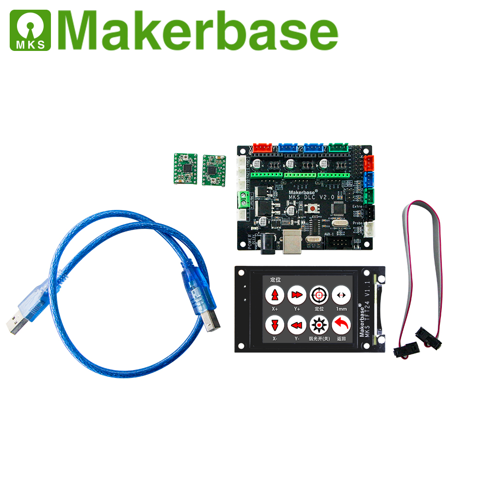 Makerbase MKS DLC  GRBL OFFLINE  Laser CNC Control Board TFT35 TFT24 Touch Screen Replace Cnc Shield V3 UNO R3 Expansion Plate