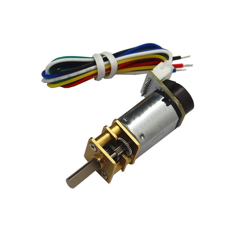 N20 miniature DC geared motor, encoder geared motor, smart car motor, DC3V6V12V CW/CCW
