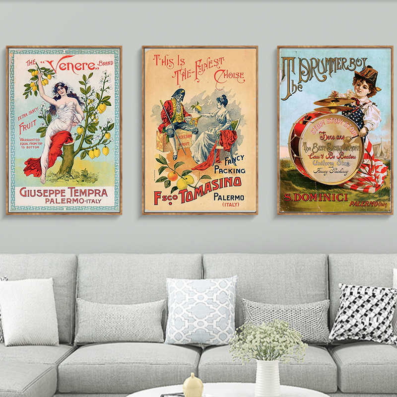 Godness Retro Vintage It Sicilia Italy Sicily Art Decorative Kraft Poster Canvas Painting Wall Poster Sticker Home Decor Gift