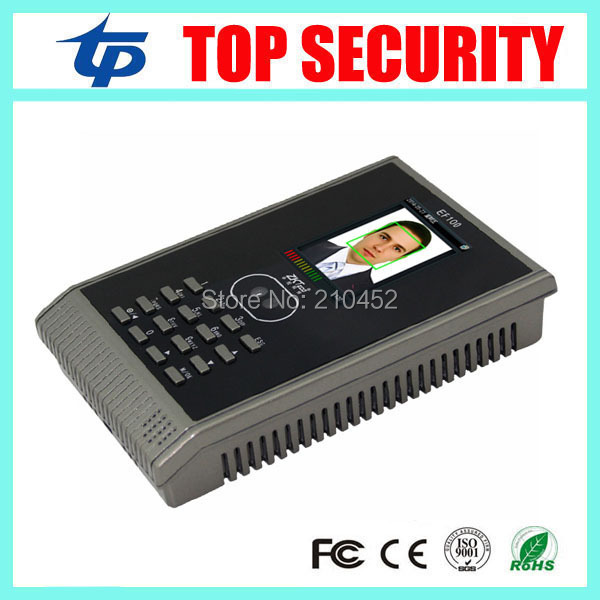 DHL free shipping ZK EF100 TCP/IP face time attendance terminal with free software SSR biometric time attendance time clock  цены