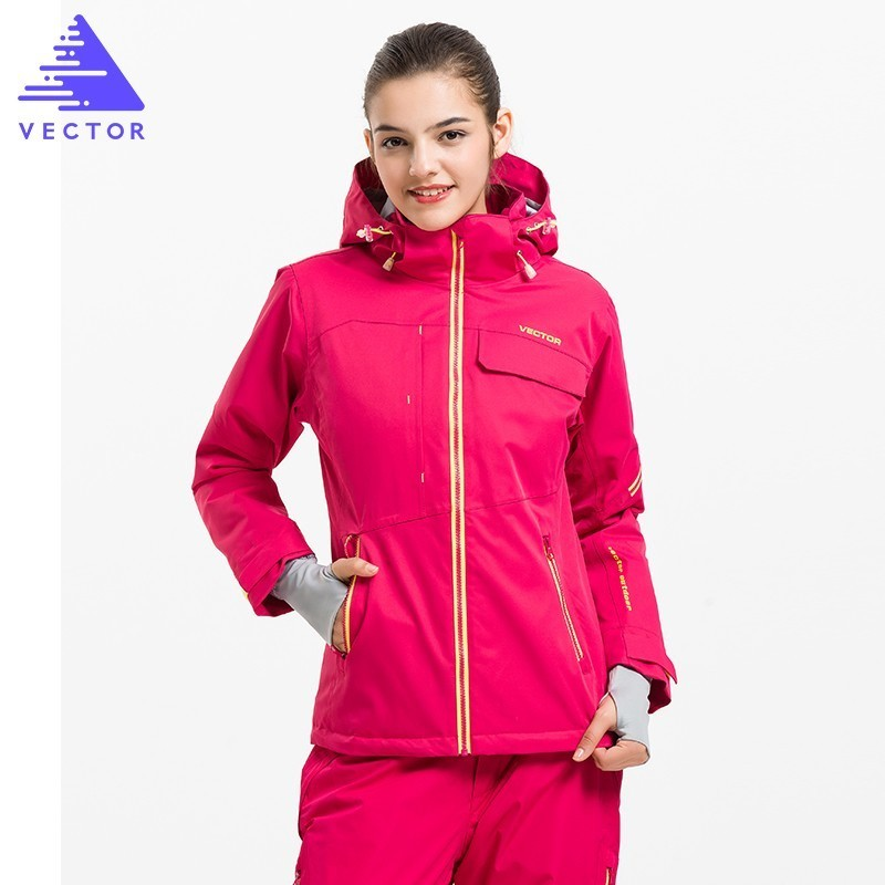 VECTOR Ski Jacket Women Warm Waterproof Winter Coat Female Snowboard Skiing Jackets Winter Outdoor Sport Clothing 60031