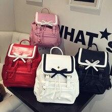 Корейский стиль супер большое пространство лук рюкзак прекрасный студент опрятный стиль школьная сумка элегантный контрастность цвет саквояж