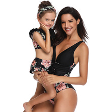 Women Girl One-Piece Suits Bikini  Swimsuit Swimwear For Mother and Daughter Bikinis Family Matching Outfits Look