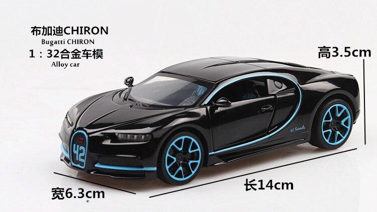 Bugatti Chiron Toy Car 15cm 30