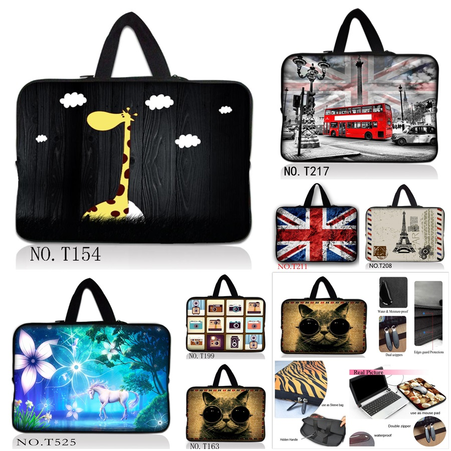 Latest Soft Sleeve Case Bag Cover w. Handle For 10 11.6 12 13 13.3 15 15.4 15.6 17 17.3 inch HP Laptop / Netbook