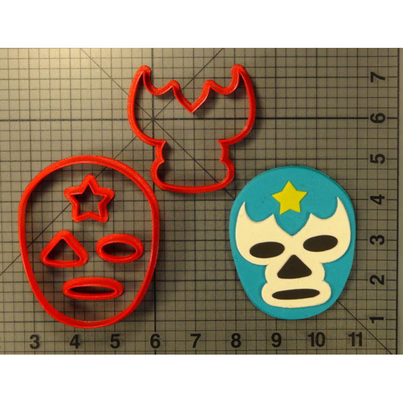 Cartoon Lucha Libre Mask Cookie Cutter Custom Made 3D Printed Cookie Cutter Set Fondant Cupcake Top Cake baking Mould in Cookie Tools from Home Garden