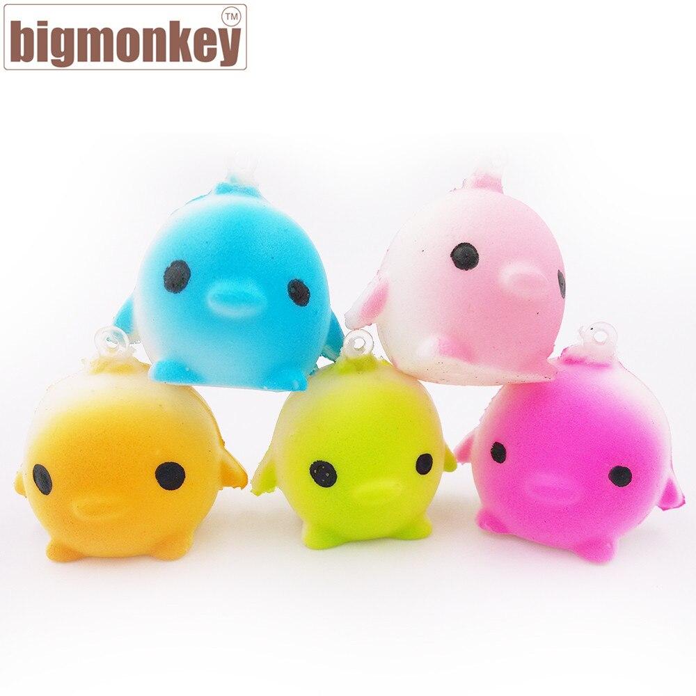 imágenes para Mono grande 4 CM Kawaii llegada lento aumento mini Lovely birds con encanto blando de juguete