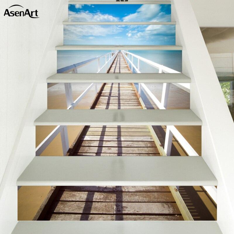 stickers muraux pour escalier 3d effet visuel amovible. Black Bedroom Furniture Sets. Home Design Ideas
