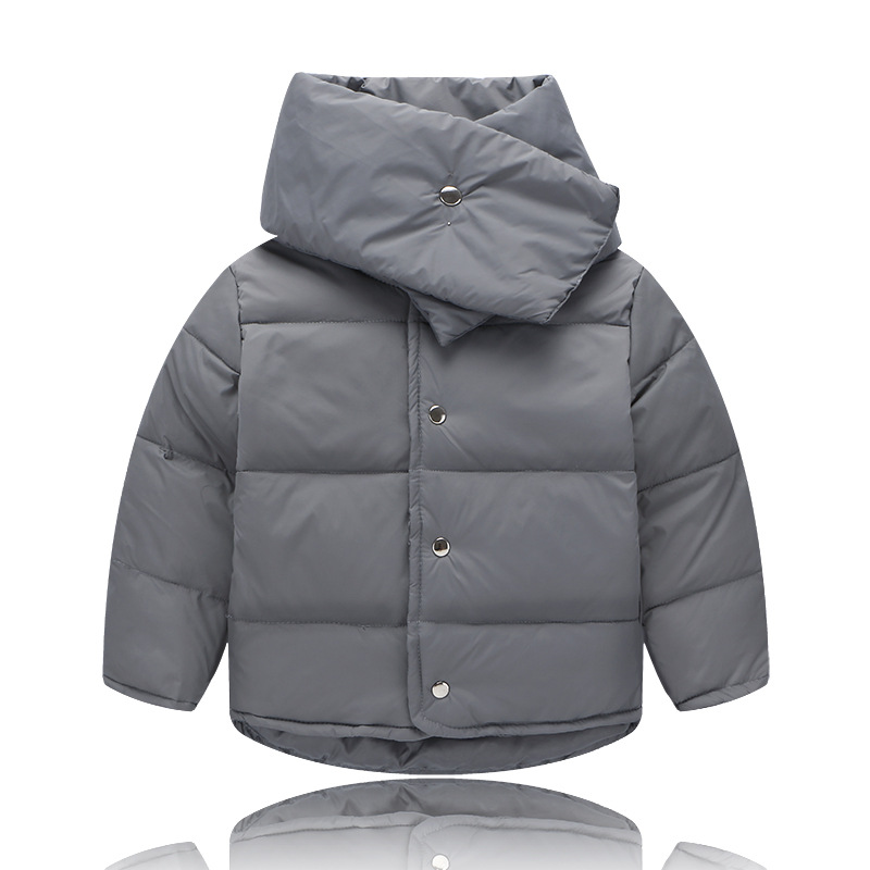 2016 Baby Winter Autumn Down Coat O neck Neckerchief Girls Boys Thickened Warm Children Clothing & Parkas