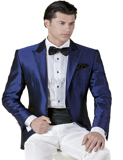 2018 Top Selling Royal Blue Tuxedo Suits Wedding Suits For Men ...