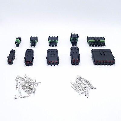 25 ensembles 1/2/3/4/6Pin Way Delphi connecteur électrique étanche prises pour Auto